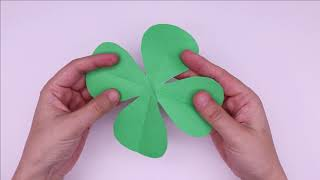 How to Make Easy 4 Petal Paper Flowers -  A Very Simple Paper Flower for Beginners