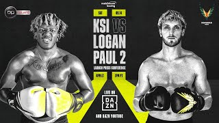How to Watch The Fight: http://bit.ly/KSILoganPaul2 DAZN's Youtube Channel: https://www.youtube.com/daznusa  Tickets: https://www.axs.com/events/381960/ksi-v-logan-paul-ii-the-rematch-tickets?skin=staples