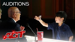 9-Year-Old Magician The Amazing Shoji Delivers Cool Card Magic! - America's Got Talent 2021 thumbnail