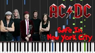AC/DC - Safe In New York City Synthesia Tutorial