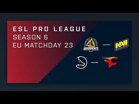 CS:GO: GODSENT vs. NaVi | LDLC vs. FaZe - Day 23 - ESL Pro League Season 6 - EU 2nd Stream