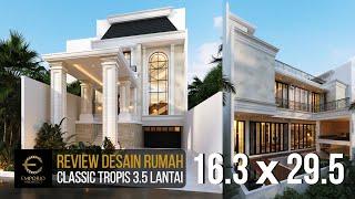 Video Desain Rumah Classic 3.5 Lantai Ibu Tien di  Jakarta