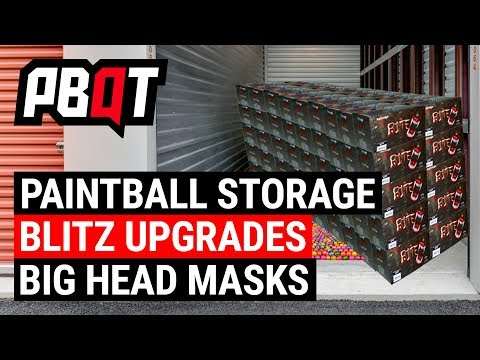 How To Store Paintballs, Azodin Blitz III Upgrades and Masks For Big Heads – Paintball QT
