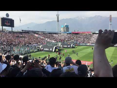 """""""Salida colo colo vs u del chiste"""" Barra: Garra Blanca • Club: Colo-Colo"""