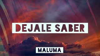 Maluma   Dejale Saber (LetraLyrics Video)  #vevoCertified #trending