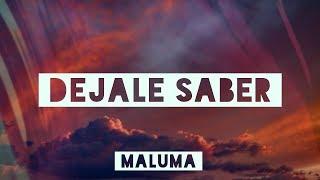 Maluma   Dejale Saber (LetraLyrics Video)  #vevoCertified #trending