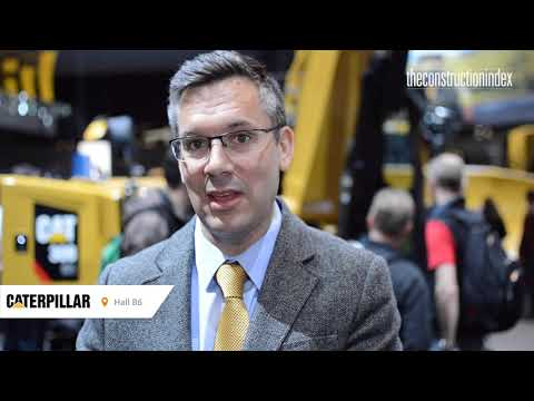 Cat mini excavators  at Bauma 2019