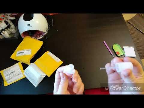 2. Распаковка посылок для ногтей с АлиЭкспресс