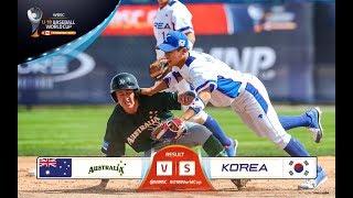 Australia v Korea - WBSC U-18 Baseball World Cup 2017