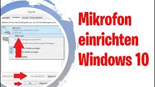 Mikrofon einstellen (Windows 10)  Headset  Mikrofon an PC anschließen und einrichten! - Tutorial