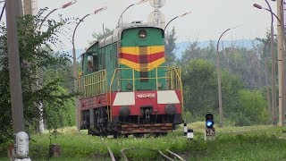 Тепловоз ЧМЭ3-4518 на 1435мм на ст. Унгены / CME3-4518 on 1435mm gauge at Ungheni station