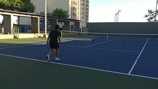 Tennis serve speed.