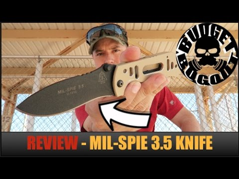 KNIFE REVIEW: EDC (Everyday Carry) Tactical Military Pocket Knife | MIL-SPIE 3.5 — TOPS Knives
