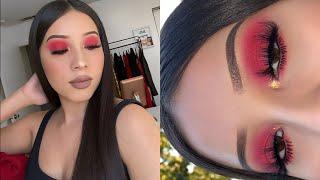 Colorful Easy Red Eyeshadow Look | Jocy Reyes