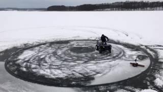 ATV ice drifting fail