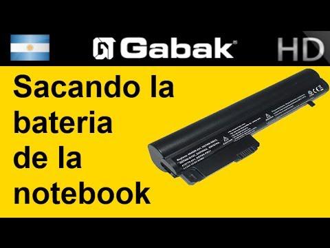 Como sacar la bateria de la notebook/netbooks