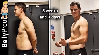 38 Days Body Transformation with BellyProof Weight Loss Challenge