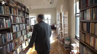 Floor To Ceiling Books Fill Kempers Loft Home