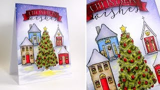 Christmas Village Card with Kelly