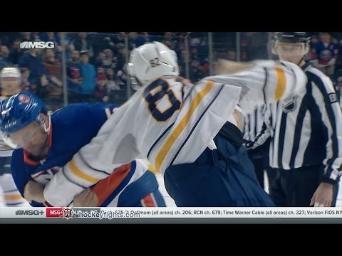 Johnny Boychuk vs. Marcus Foligno