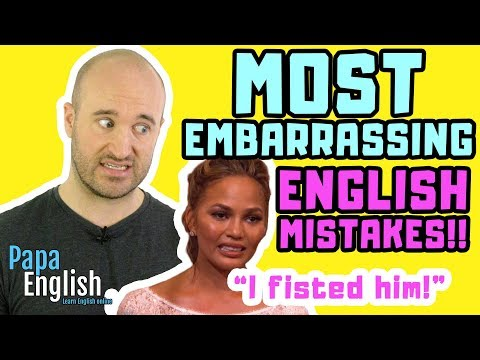 MOST EMBARRASSING English Mistakes! (Not for Kids!)
