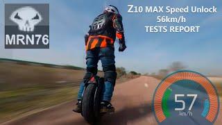Ninebot Z10 - Z10 MAX SPEED UNLOCK TO 56km/h TESTS