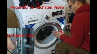 Waschmaschine Tür Deckel klemmt öffnet nicht. Mit Hebeltrick öffnen Siemens Verriegelung Schnurtrick
