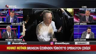 Mehmet Metiner: Brunson üzerinden Türkiye'ye Operasyon çekildi