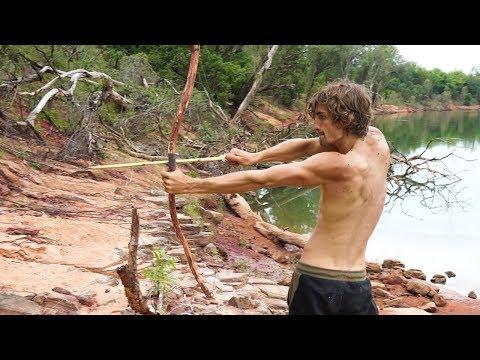真的能用自製的弓箭抓到獵物嗎