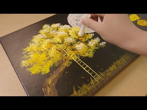 painting memories under moonlight acryclic painting tutorial by jay lee