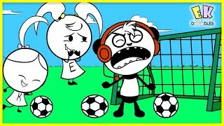 Learn Sports like Soccer! Kids Outdoor Activities with Combo Panda and EK Doodles