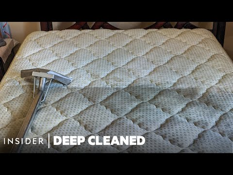 7 Years of Dirt Cleaned From a Single Mattress