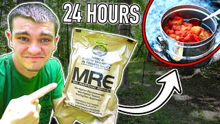EATING ONLY MILITARY FOOD FOR 24 HOURS STRAIGHT! (MRE)