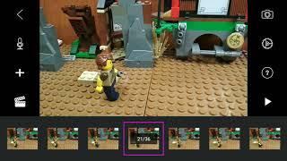 Как снимать Лего мультики . Бег , шаг , бросок .