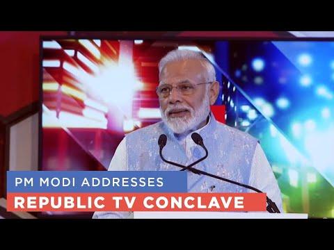 PM Modi addresses RepublicTV Conclave