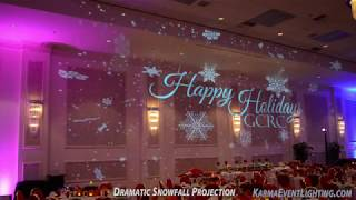 Snowfall Projection for Winter Theme Events and Weddings