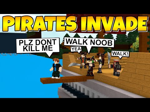 PIRATES INVADE BUILD A BOAT ⚔ ( We STOLE his boat! ) Roblox