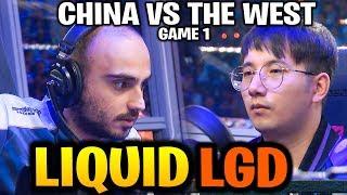 LIQUID vs LGD (Game 1) CN vs WEST! the RUBICK GOD! TI9 Dota 2