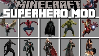 Minecraft SUPERHERO MOD / BECOME HULK AND SMASH YOUR ENEMIES AWAY!! Minecraft