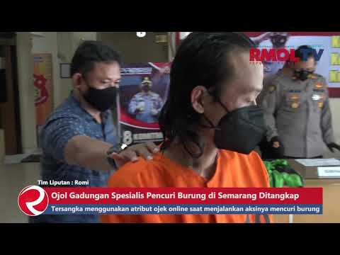 Ojol Gadungan Spesialis Pencuri Burung di Semarang Ditangkap