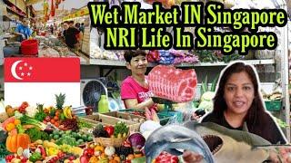 Indians In Singapore Wet Market Grocery Shopping Life in Singapore Vlog SUPERPRINCESSJO