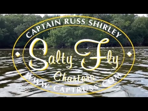 Sight fishing Redfish on fly onboard the Salty Fly.