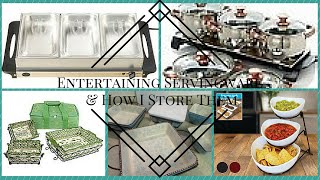 **REQUESTED** My Entertaining Servingware & How I Store Them