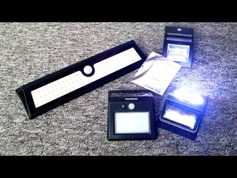 Solar LED Wall Lights Vergleich Outdoor Autarke Außenleuchten Bewegungsmelder Akku Betrieb