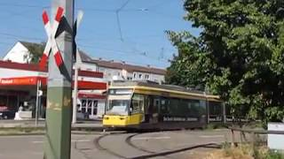 preview picture of video 'Karlsruher Straßenbahnnetz Karlsruhe Tramways'