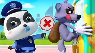 Big Bad Wolf and Drinks Vending Machine | Police Cartoon | Learn Colors | Kids Songs | BabyBus