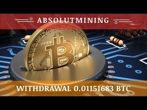 AbsolutMining.com отзывы 2020, обзор, TOTAL WITHDRAWAL 0.01151683 BTC, free 100 GH/s bonus