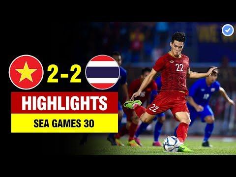 highlights viet nam 2 2 thai lan tien linh lap cu dup sieu dang u22 vn tien thai lan ve nuoc som