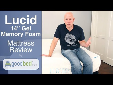 "Lucid 14"" Gel Memory Foam Mattress Review (VIDEO)"