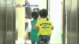 baby hyunwoo n eunsol surprised B1A4 appa !